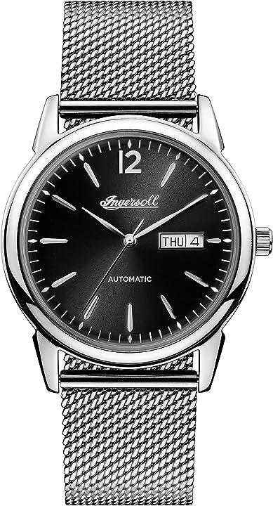 Orologio automatico da uomo con bracciale in acciaio inossidabile ingersoll the new haven I00506