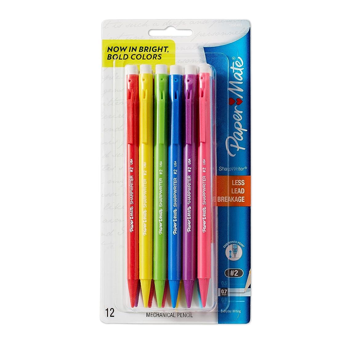 スイス人倫理的秘書Papermate 1898483 0.7 mm. HB Sharpwriter Mechanical Pencil - Assorted Color Barrels