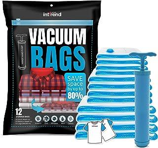 comprar comparacion int!rend 33 XXL Vacuum Bag Set - 12 Bolsas de almacenaje al vacío Reutilizables | 3 tamaños Diferentes Incluyendo 20 blocs...