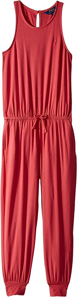 Stretch Cotton Romper (Little Kids/Big Kids)