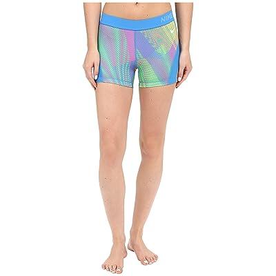 Nike Pro Hypercool Frequency Shorts (Light Photo Blue/Hyper Pink/Light Photo Blue/White) Women