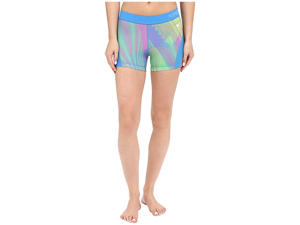 Nike Pro Hypercool Frequency Shorts (Light Photo Blue/Hyper Pink/Light Photo Blue/White) Women