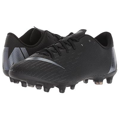 Nike Kids Vapor 12 Academy MG Soccer (Toddler/Little Kid/Big Kid) (Black/Anthracite/Black/Light Crimson) Kids Shoes