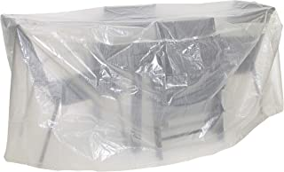 Greemotion Cover for Chairs wasserabweisen with Eyelets Transparent, 0.1 x 0.1 x 200 CM