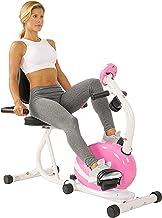 دراجة استلقاء مغناطيسية P8400 للبالغين من الجنسين من ساني هيلث اند فيتنس - لون وردي، مقاس واحد