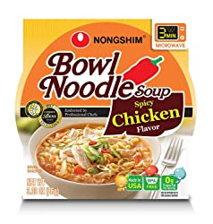 NongShim Spicy Chicken Noodle Bowl, 3.03 Oz