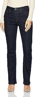 Riders by Lee Indigo Women's Fleece Lined Slim Straight Leg Jean, Dark Shade, 10