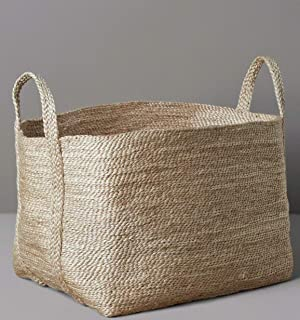 """GooBloo Extra Large Woven Storage Basket Jute Rope - 20"""" x 14"""" Tall Decorative Rope Basket for Living Room, Toys, Storage,..."""