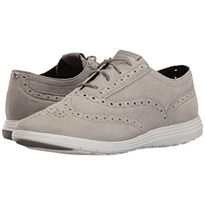 Cole Haan Grand Tour Oxford (Ironstone Suede/Optic White) Women