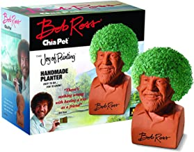 Chia Pet Bob Ross with Seed Pack, Decorative Pottery Planter, Easy to Do and Fun to Grow, Novelty Gift, Perfect for Any Oc...
