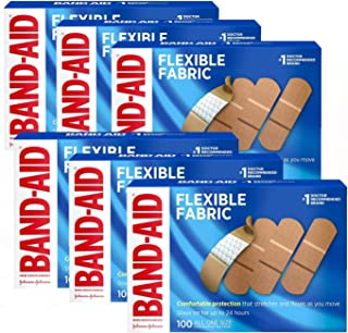 Band-Aid Brand Flexible Fabric Adhesive Bandages for Wound Care and First Aid, All One Size, 600 Count