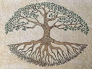 Mosaic Tile Art - Tree of Life   Mosaic Designs   Mosaic Artwork   Mosaic Wall Art Floor Inlay by Mozaico   Handmade Mosaics   39
