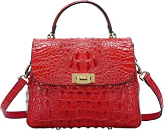 PIJUSHI Womens Top Handle Handbag Crossbody Purse Crocodile Bags for Ladies