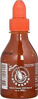 FLYING GOOSE Sriracha scharfe Chilisauce - scharf & süß, orange Kappe, Würzsauce aus Thailand, 1er Pack 1 x 200 ml