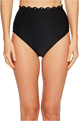 Kate Spade New York - Morro Bay #69 Scalloped High-Waist Bikini Bottom