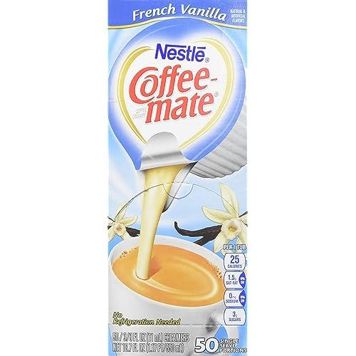 COFFEEMATE 35170BX French Vanilla Creamer, .375oz, 50/Box