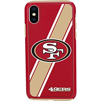 NFL Licensed San Francisco 49ers Textured Solid Color Prime Brands Group Cell Phone Case for Apple iPhone X