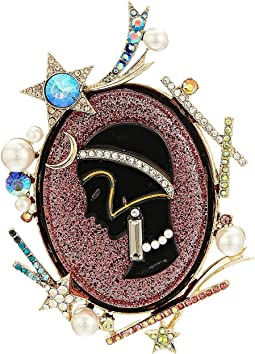 Betsey Johnson - Pink and Gold Cameo Pin