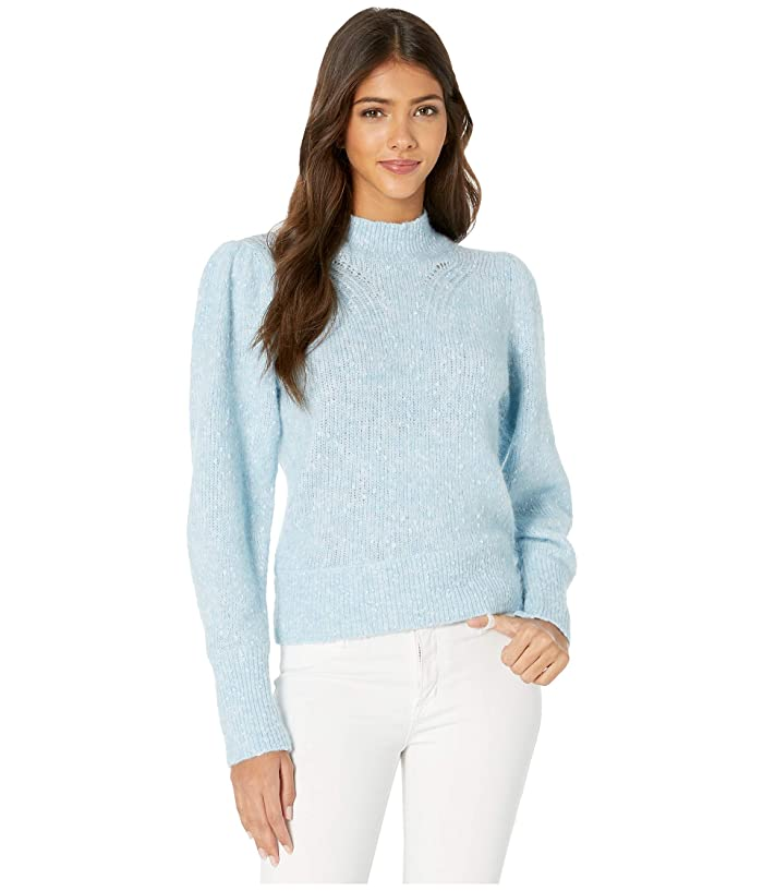 Rebecca Taylor  Optic Tweed Pullover (Carolina Blue) Womens Clothing