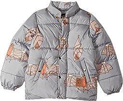 mini rodini Bat Puffy Jacket (Toddler/Little Kids/Big Kids)