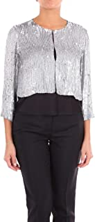 P.A.R.O.S.H. Luxury Fashion Womens D420530X057 Silver Jacket | Season Outlet