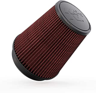 K&N Universal Clamp-On Air Filter: High Performance, Premium, Washable, Replacement Engine Filter: Flange Diameter: 5 In, Filter Height: 7 In, Flange Length: 1 In, Shape: Round Tapered, RU-2800