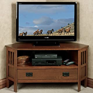 Touch of Class Laramie Corner TV Media Stand Mission Red Oak