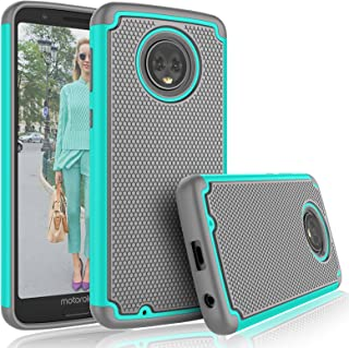 Moto G6 Case, Motorola G6 Cute Case, Tekcoo [Tmajor] Shock Absorbing [Turquoise] Rubber Silicone & Plastic Scratch Resistant Bumper Grip Sturdy Hard Cases Cover for 2018 Moto G (6th Generation)