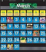 Scholastic Classroom Resources Pocket Chart Monthly Calendar, Black (SC583866)