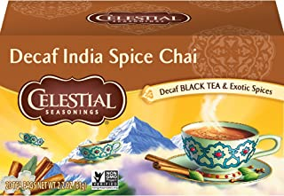 Celestial Seasonings Chai Tea, Decaf India Spice, 20 Count (Pack of 6)