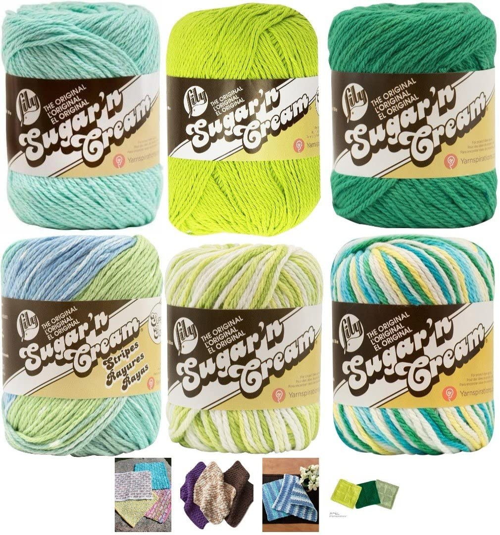 Variety Assortment Lily Sugar'n Cream So Cotton Yarn New sales Percent 100 Oakland Mall