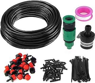 SunTop 15m Kit de riego por Goteo DIY Automático Micro Drip Irrigation System Planta Auto Riego de jardín de Invernadero Auto riego Kits