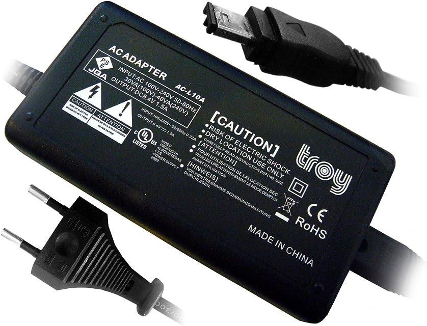 Troy Fuente de alimentación para AC de l10a AC de l10b para Sony Cybershot 8mm Mini DV de Mavica DSC CCD de Sony DCR-DVD910DVD DCR-PC101PC105PC110PC115PC120PC9de DCR TRV10TRV11TRV110TRV120TRV130TRV140TRV17 DCR-TRV18