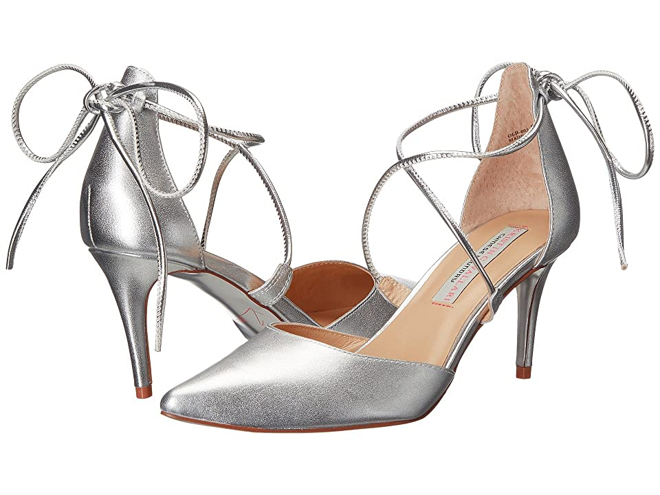 Kristin Cavallari Opel Lace-Up Pump (Silver) High Heels