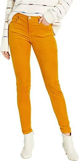 The Bond Mid-Rise Corduroy Skinny in Marigold