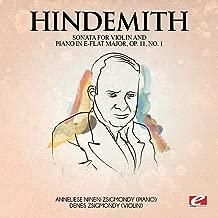 Hindemith: Sonata for Violin and Piano in E-FlatMajor, Op. 11, No. 1 (Digitally Remastered)