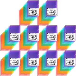 プラス クリアホルダー A4 100枚 パック5色×20枚 高透明カラー 80-160×10
