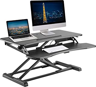 TechOrbits Stand-X Luz atril convertidor Base regulable en altura mesa elevador sentarse en la superficie de trabajo de escritorio soporte 32