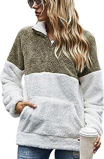 Tuopuda Mujer Sudadera Caliente y Esponjoso Tops Chaqueta Suéter Abrigo Jersey Mujer Talla Grande Hoodie Larga Pullover De...