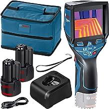 Bosch GTC 400 C Professional - Cámara térmica, Sistema 12V (2 baterías 12V + cargador, bolsa, con conectividad, medición -...