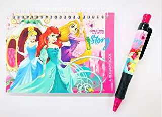 Party Favors Disney Princesses Creating My Own Story Autograph Book with Pen Note Pads Memo - (Princesses Creating My Own Story)