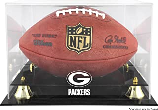 Mounted Memories Green Bay Packers Golden Classic Football Display Case and Mirror Back