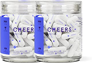 Cheers Restore Hangover Cure - Hangover Pills (72 Count) for Morning After Hangover Prevention - Reduces GABAa Rebound. Flavonoid Supplement with DHM and Milk Thistle