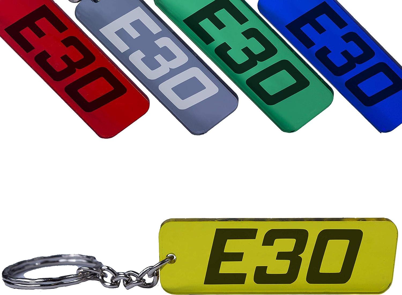Reskey E30 3er Schlüsselanhänger 316 318 320 323 325 M3 Tuning Farbig Grün Auto