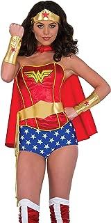 Rubie's Women's Dc Comics Wonder Woman Accessory Kit: Tiara, Belt with Lasso, Gauntlets