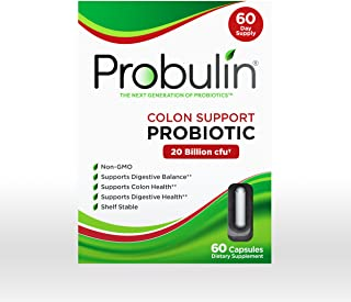 Probulin Colon Support Probiotic, 60 Capsules, Daily Probiotic for The Entire Family