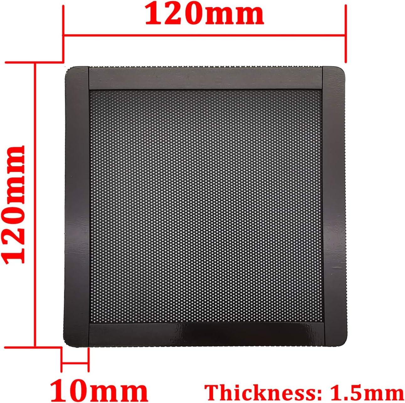 120mm PC Computer Case Fan Magnetic Frame Dust Filter Screen Dustproof Case Cover, Ultra Fine PVC Mesh, Black Color - 4 Pack