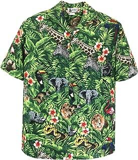 Aloha Republic Men's Women's Forest Zoo Animals Hawaiian Shirt