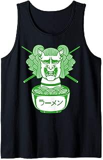 Monster Girl Ramen Noodle Anime Manga Harajuka Green Goth Tank Top