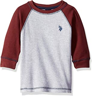 Boys' Long Sleeve Solid Crew Neck T-Shirt